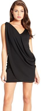 Guess Dámske šaty Raashida Draped Dress Black XS