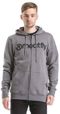 Meatfly Pánska mikina Form Hood ie B - Heather Concrete S