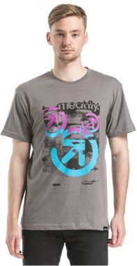 Meatfly Tričko Pulse T-shirt A - Concrete Heather S