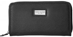 Tommy Hilfiger Elegantná čierna dámska peňaženka Womens Core Wallets Zip Around Wallet Black