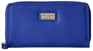 Tommy Hilfiger Elegantná modrá dámska peňaženka Womens Core Wallets Zip Around Wallet Light Blue