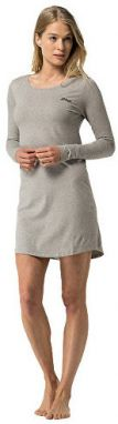 Tommy Hilfiger Dámske šaty s dlhým rukávom Cotton Icon ic Sleepwear CN Dress LS 1487905943-4 Grey Heather S