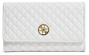 Guess Elegantná peňaženka Classic Quilted Wallet and Pouch White