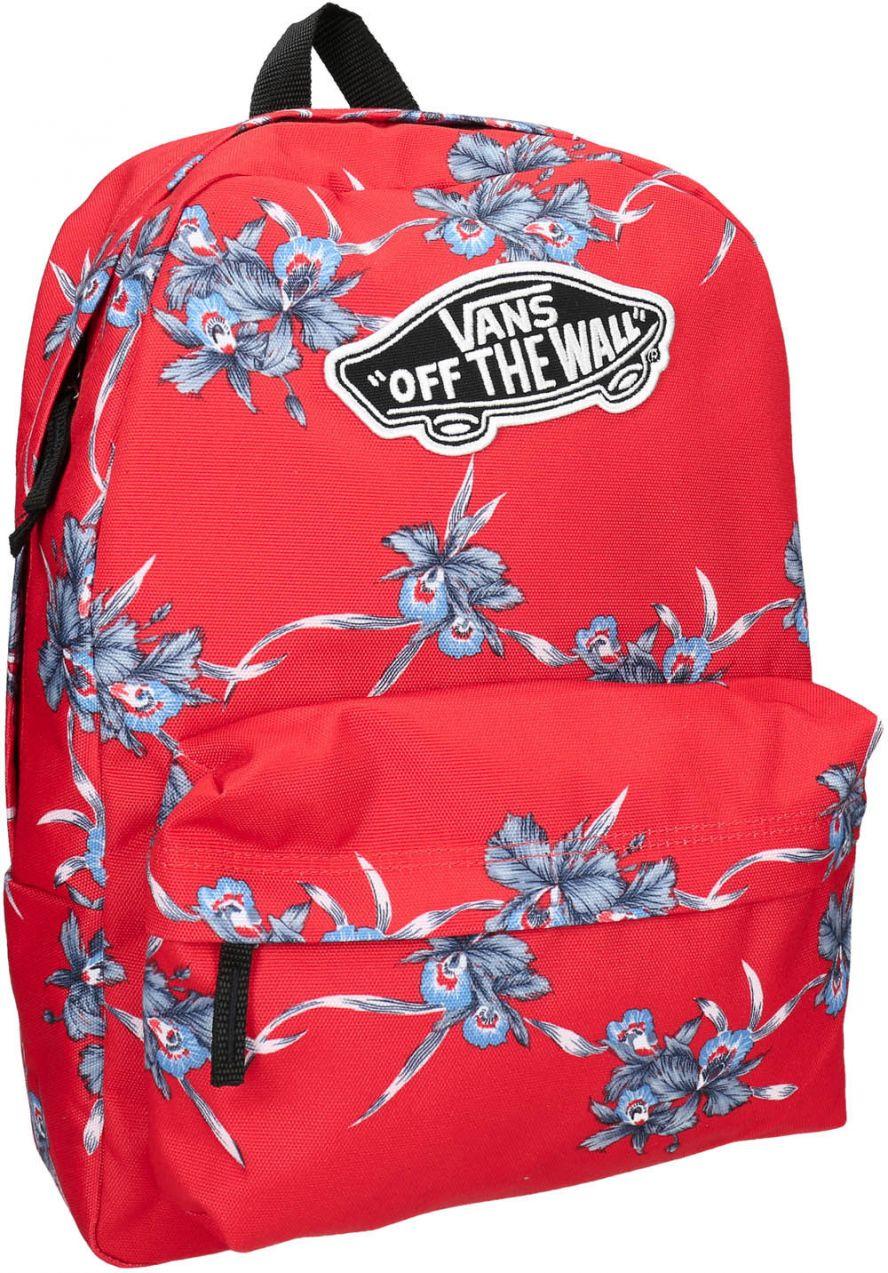 14f96c85918 Červený batoh so vzorom značky Vans - Lovely.sk