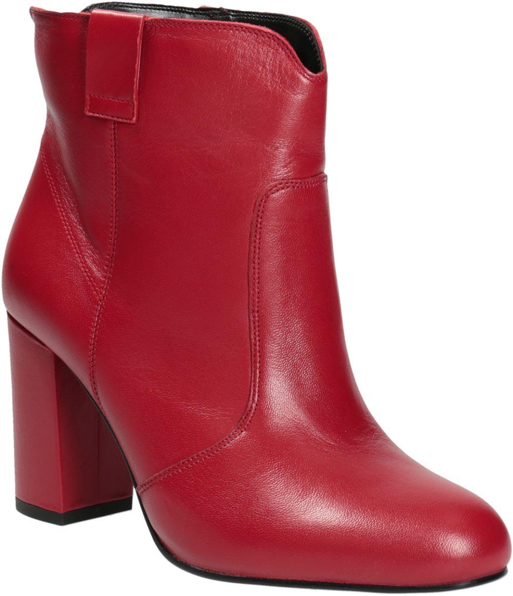 Červené členkové čižmy z kože značky Baťa - Lovely.sk 872a42eaa74