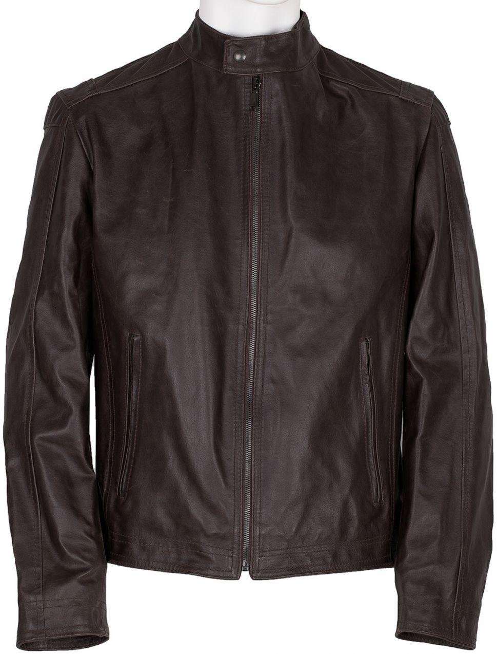 Hnedá pánska kožená bunda značky Baťa - Lovely.sk b6ed69c8ce