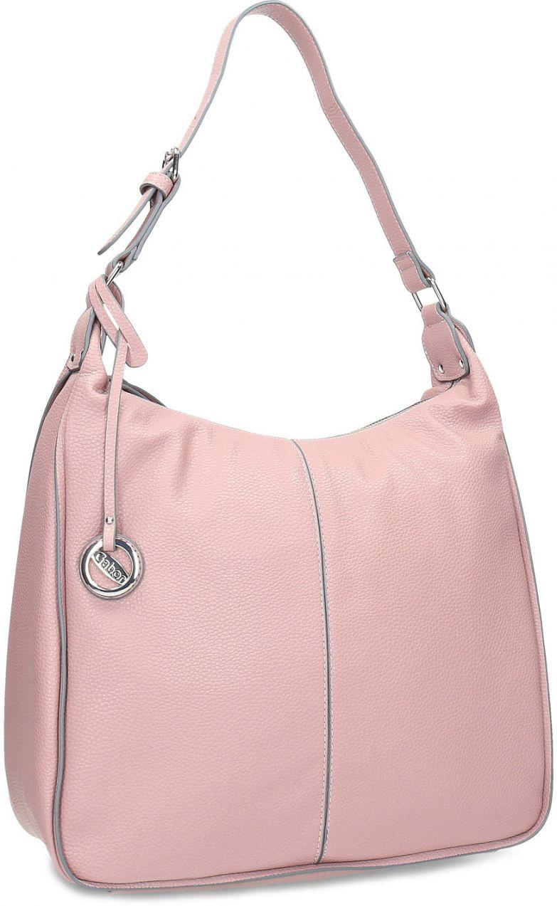 Ružová dámska kabelka v Hobo štýle značky Gabor bags - Lovely.sk 9d9a3be12d0