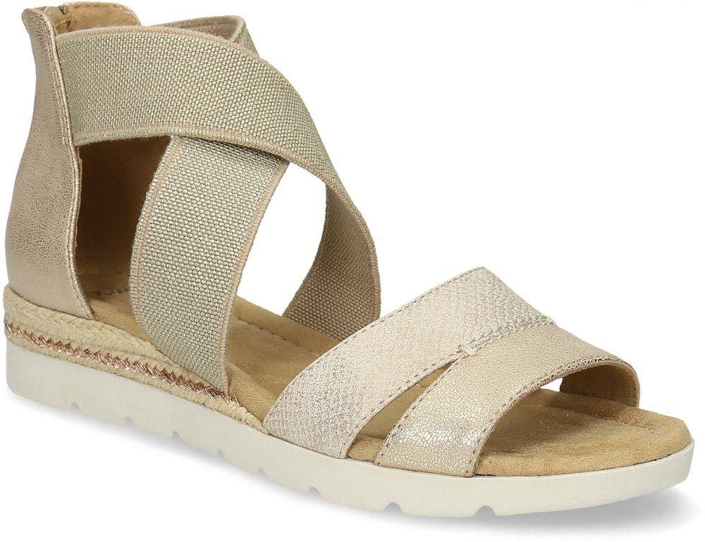 f6536edb1f15a Zlaté dámske sandále na kline značky Baťa - Lovely.sk