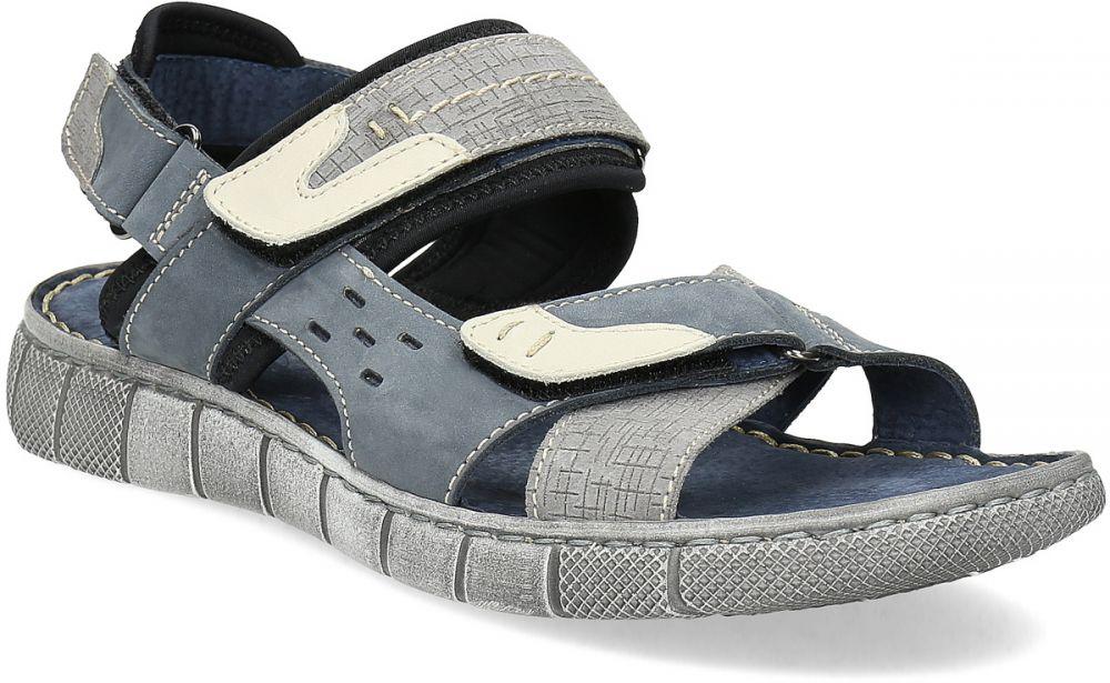 b8d5a6f37b8af Modré kožené pánske sandále na suchý zips značky Baťa - Lovely.sk