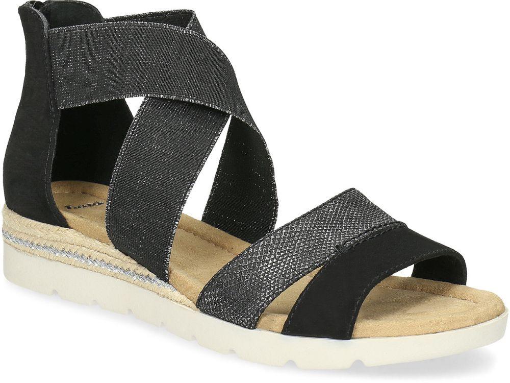 93e76cd1fec1 Čierno-strieborné dámske sandále značky Baťa - Lovely.sk