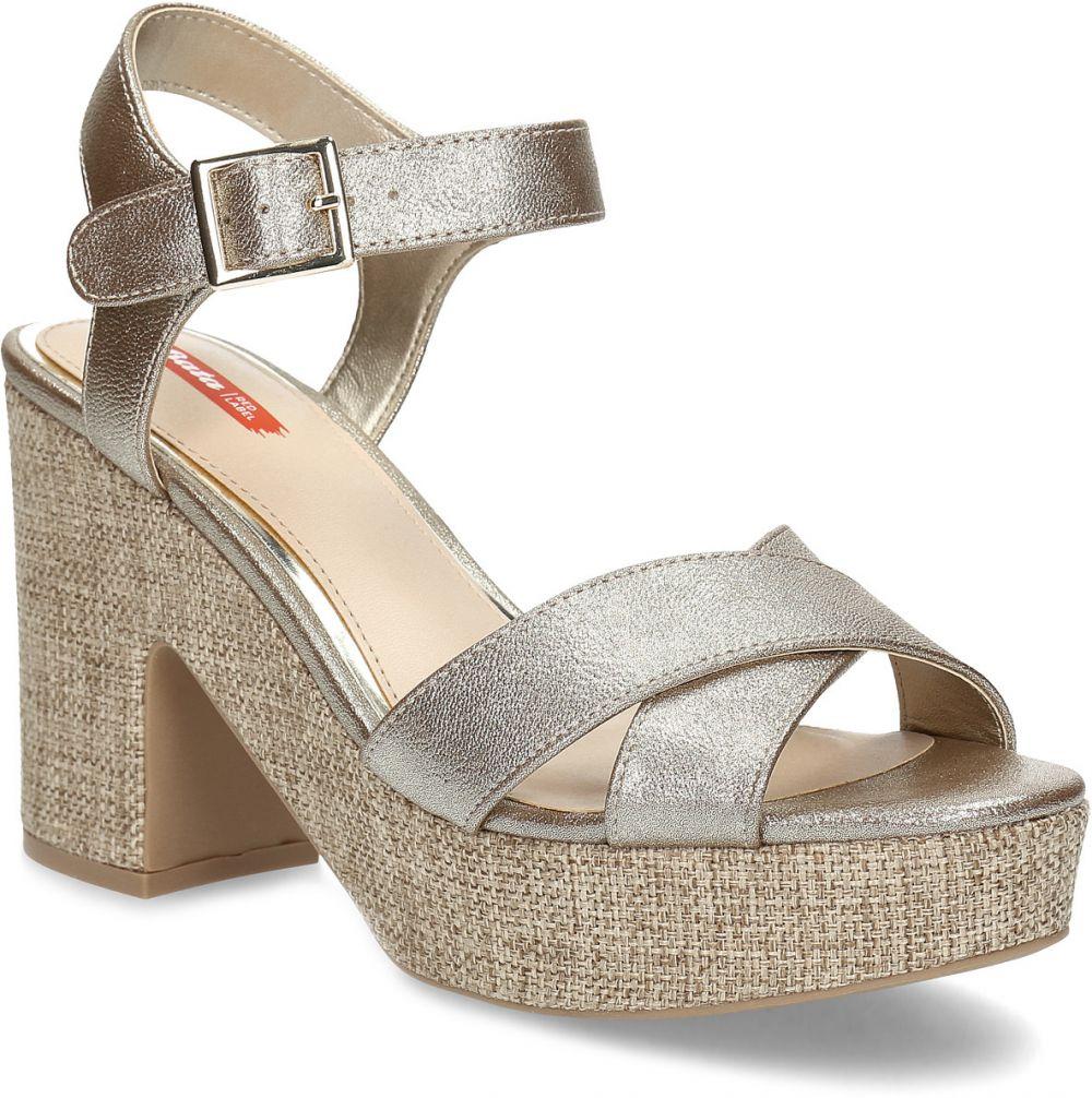938c21288fc8f Dámske zlaté sandále na masívnom podpätku značky Bata Red Label - Lovely.sk