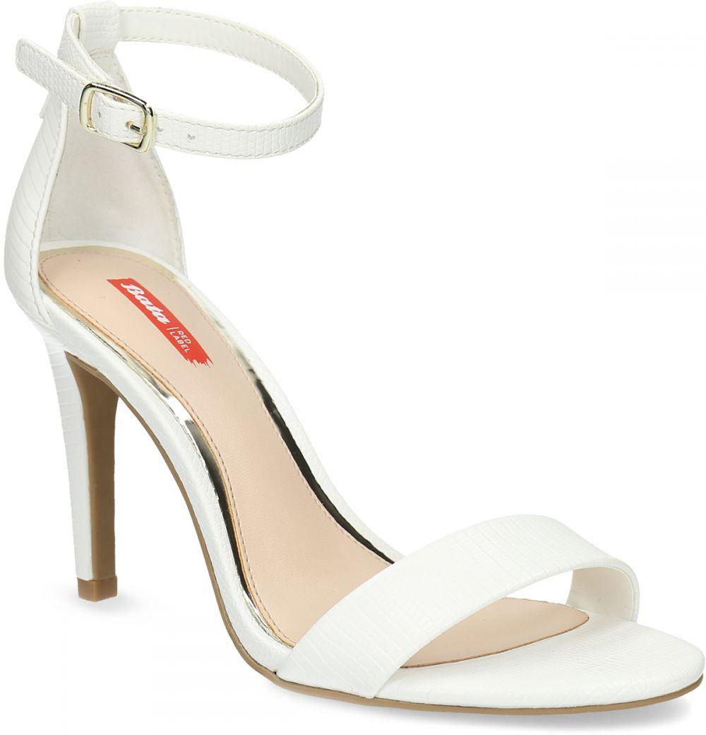 2161be1b2a644 Biele sandále na ihličkovom podpätku značky Bata Red Label - Lovely.sk
