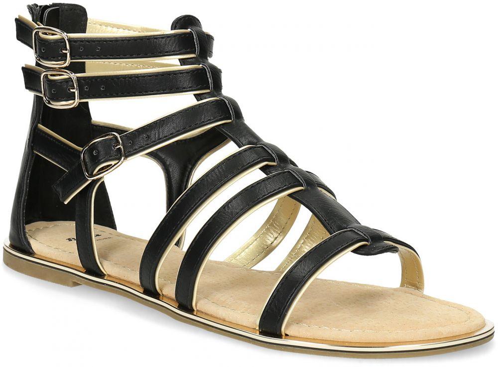 845fcad7734fd Dámske čierno-zlaté sandále značky Baťa - Lovely.sk