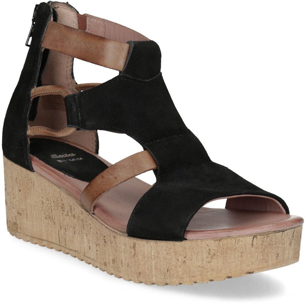 1d438331c947 Kožené sandále na platforme čierne značky Baťa - Lovely.sk