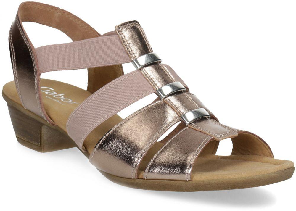 25983f7310e2 Kožené dámske sandále na nízkom podpätku značky Gabor - Lovely.sk