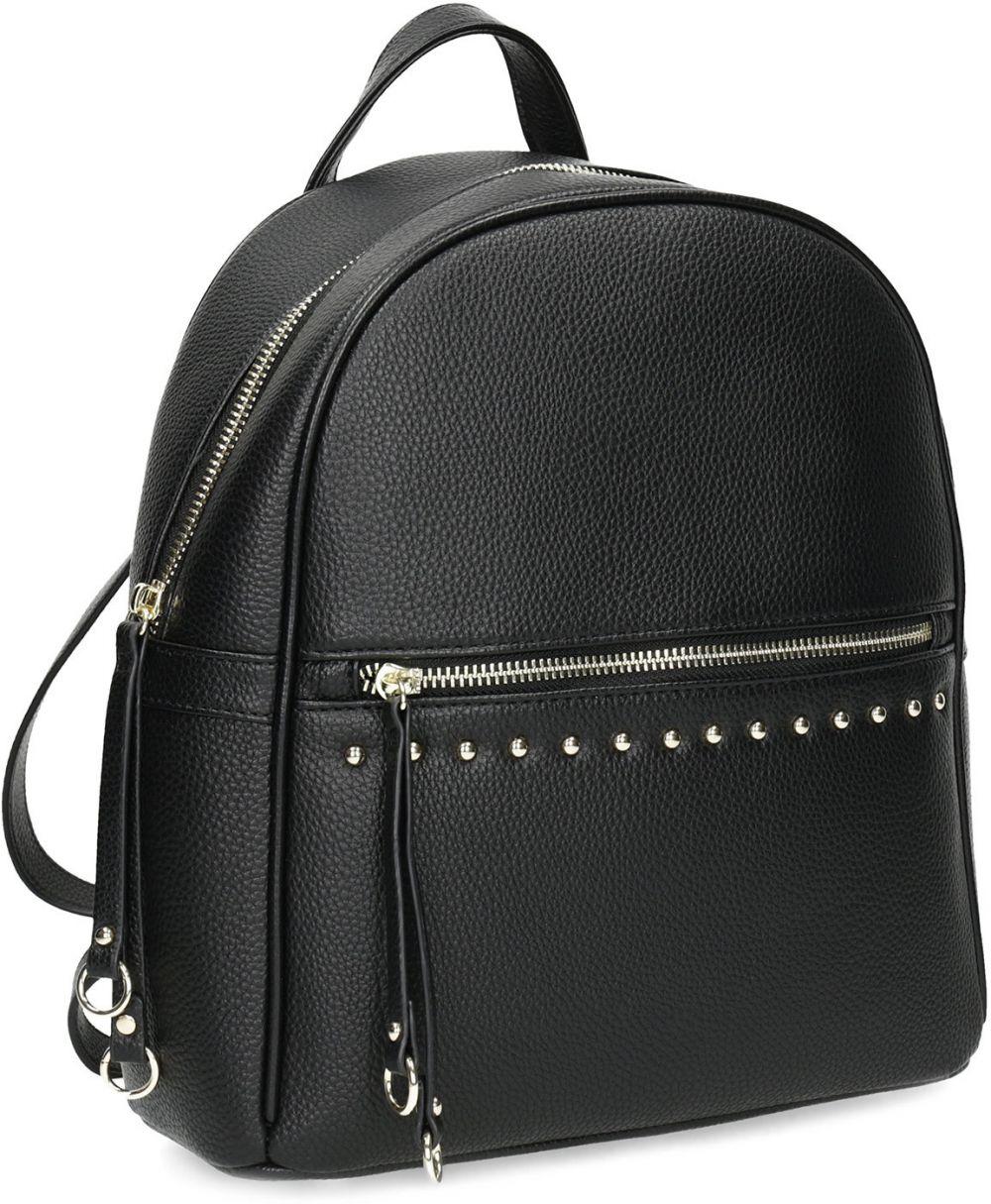 cdd3639556 Čierny dámsky batoh s kovovými cvokmi značky Baťa - Lovely.sk