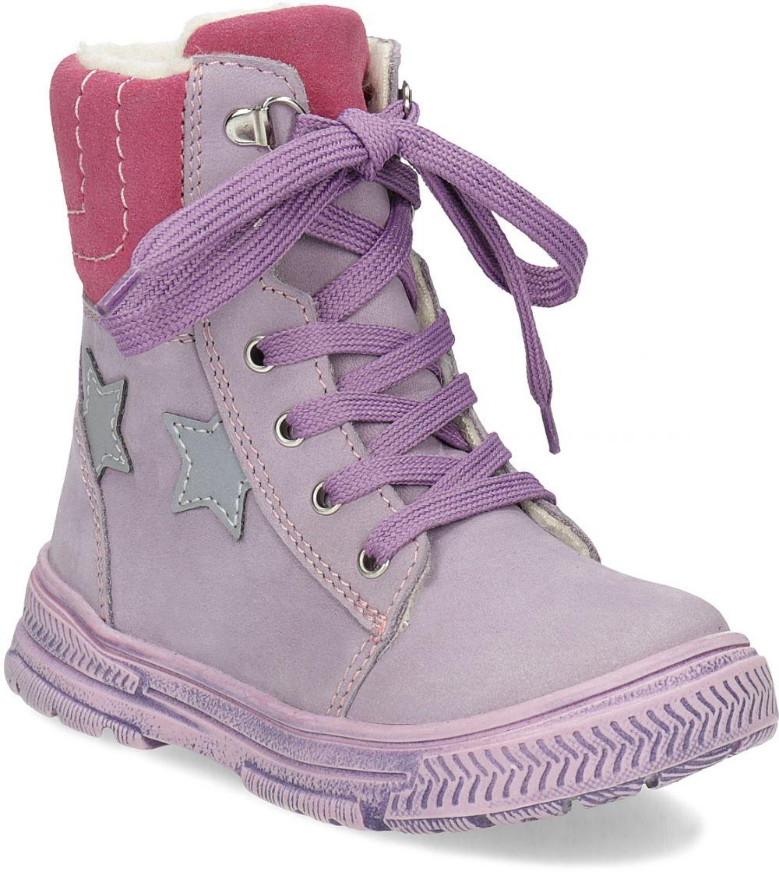 Detská kožená členková obuv s kožúškom značky MINI B - Lovely.sk b3e21079708