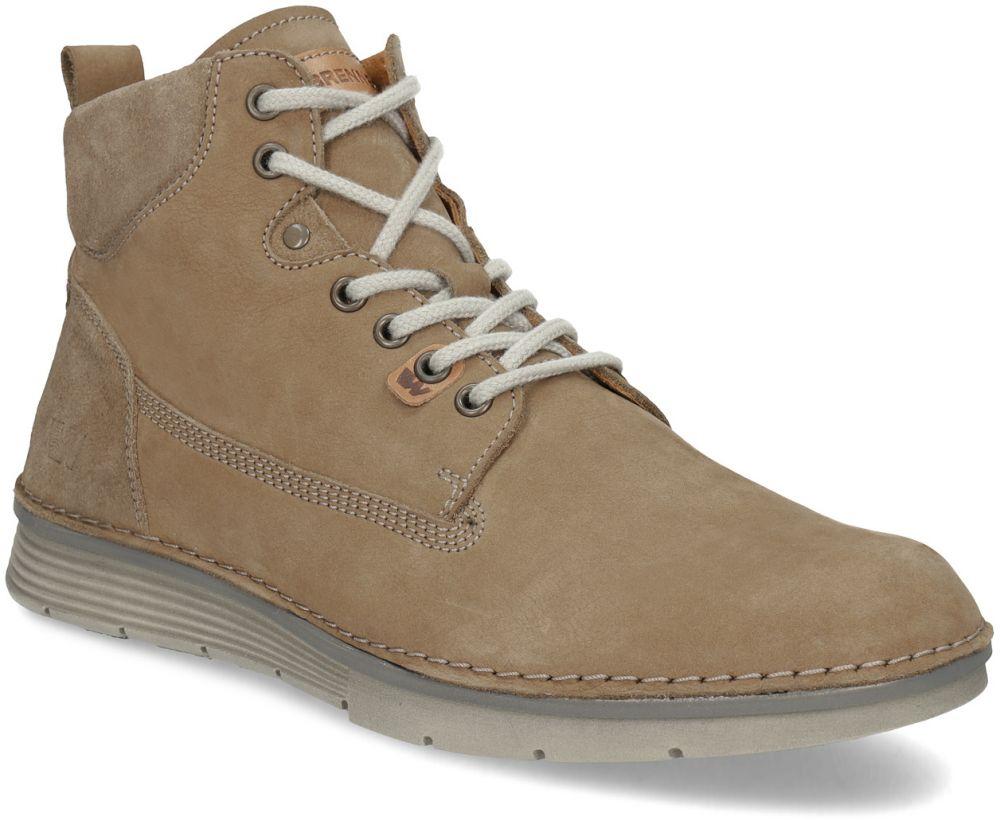 Hnedá kožená pánska členková obuv značky Weinbrenner - Lovely.sk fae4bed962d