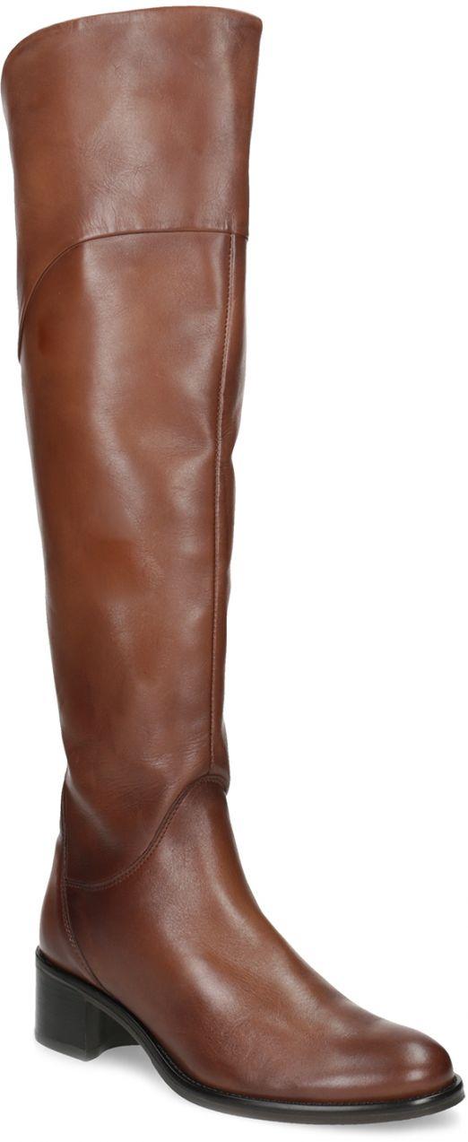 Kožené hnedé čižmy nad koleno značky Baťa - Lovely.sk a2bc0c4df58