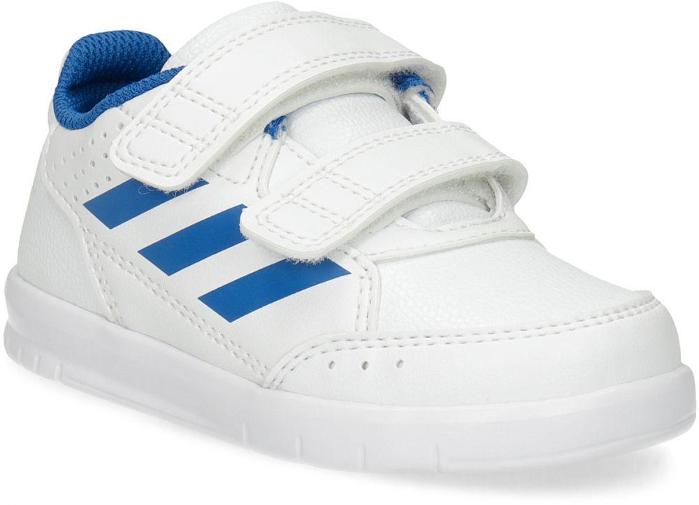 426059798d7e6 Biele detské tenisky s modrými detailami značky Adidas - Lovely.sk