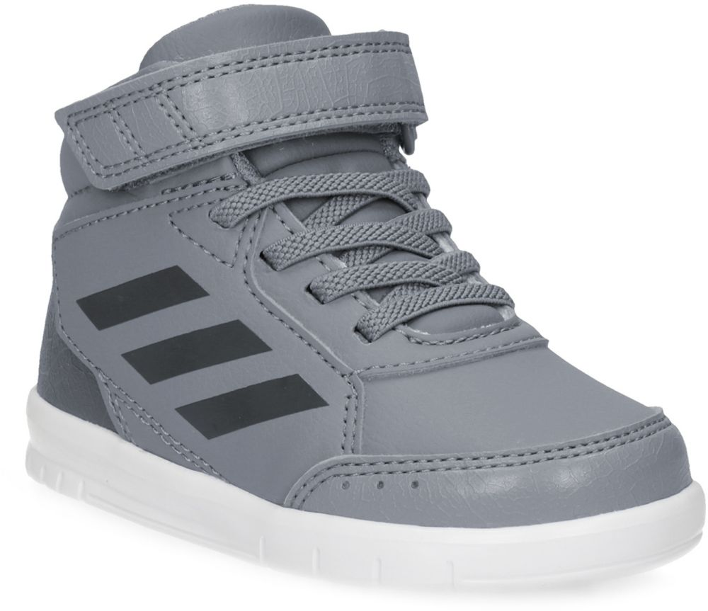 Šedé členkové detské tenisky na suchý zips značky Adidas - Lovely.sk 0f9489ed6ae