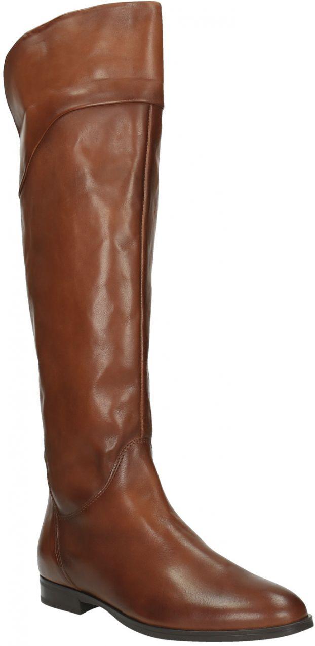 Hnedé kožené čižmy ku kolenám značky Baťa - Lovely.sk 123a0ccafc7