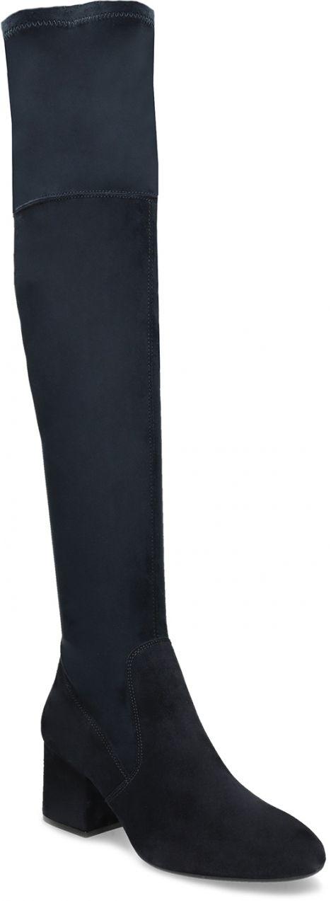 63a7900d5e98 Modré dámske čižmy nad kolená značky Baťa - Lovely.sk
