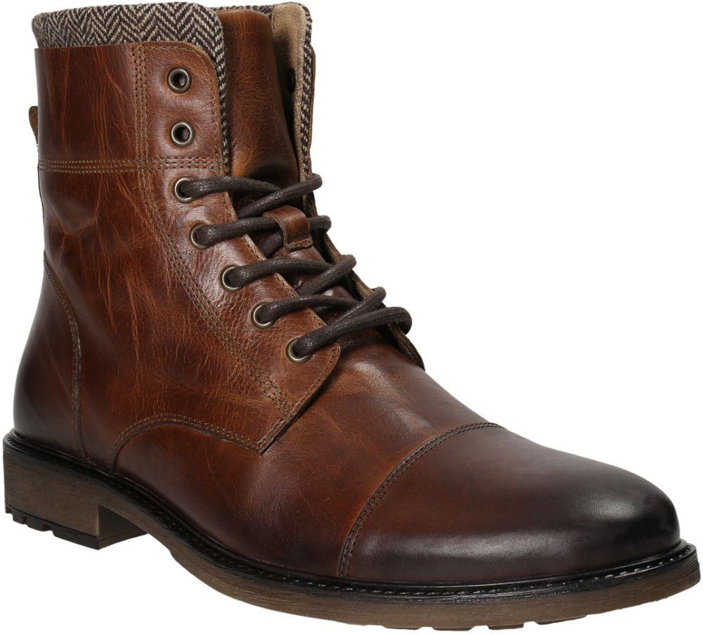 Pánska kožená zimná obuv značky Baťa - Lovely.sk e2f06811a91