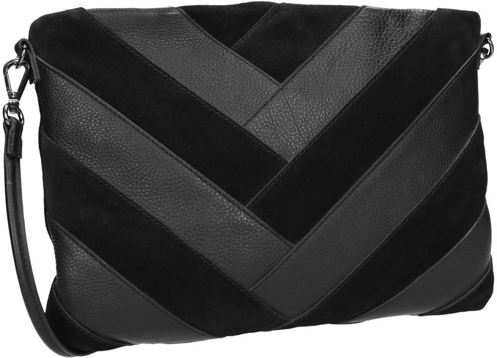 Čierna kožená listová kabelka značky Baťa - Lovely.sk 72f98e41df2