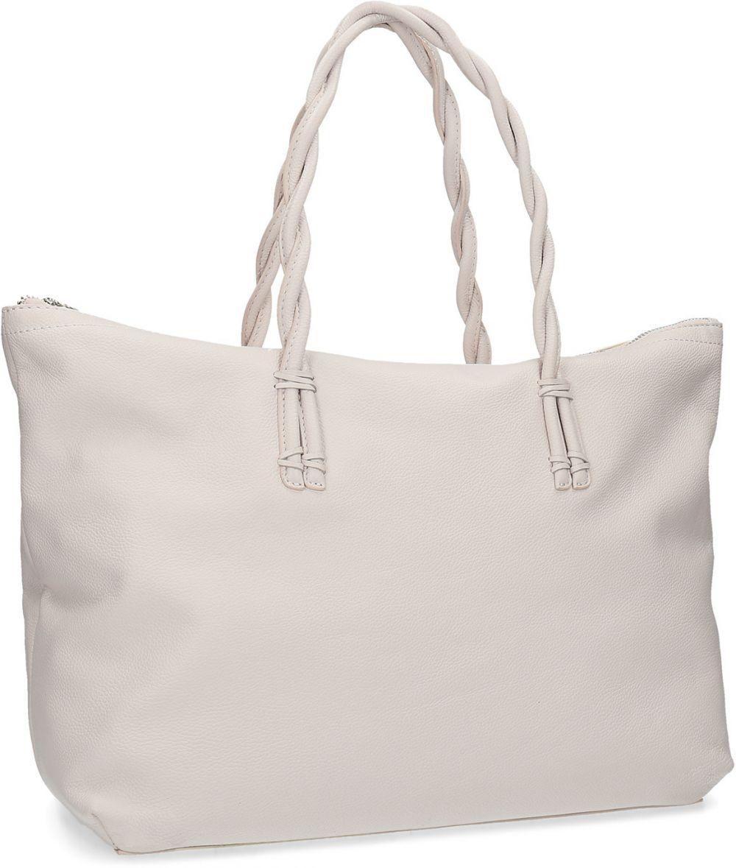 Biela kožená kabelka s prepletenými rúčkami značky Baťa - Lovely.sk a1d50049316