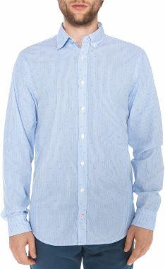 Modrá pánska ľanová košeľa Tommy Hilfiger značky Tommy Hilfiger ... e3c1e4f652f