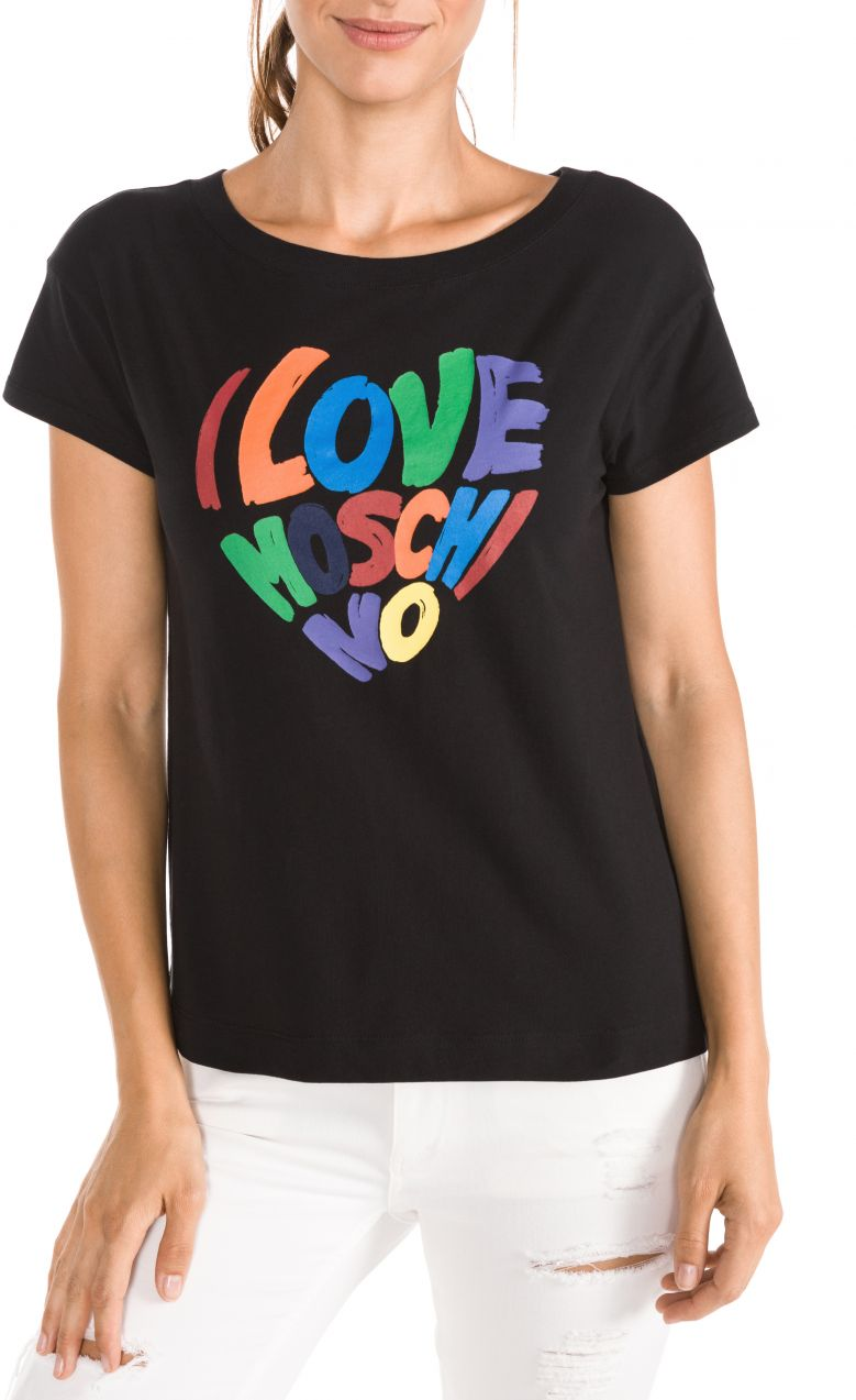 f8ec636fe Lovely Žena Oblečenie Tričká, topy, tielka Tričká s krátkym rukávom. Tričko  Love Moschino