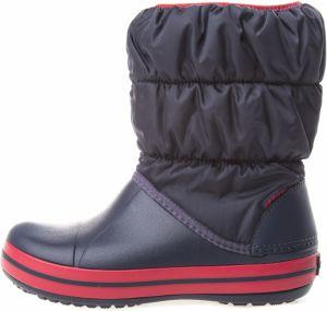 Crocs modré snehule Winter Puff Boot Kids Cerulean Blue značky Crocs ... 168d0e6990