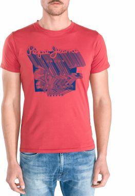 60edfb9b5732 Červené pánske tričko s potlačou Pepe Jeans Original značky Pepe ...