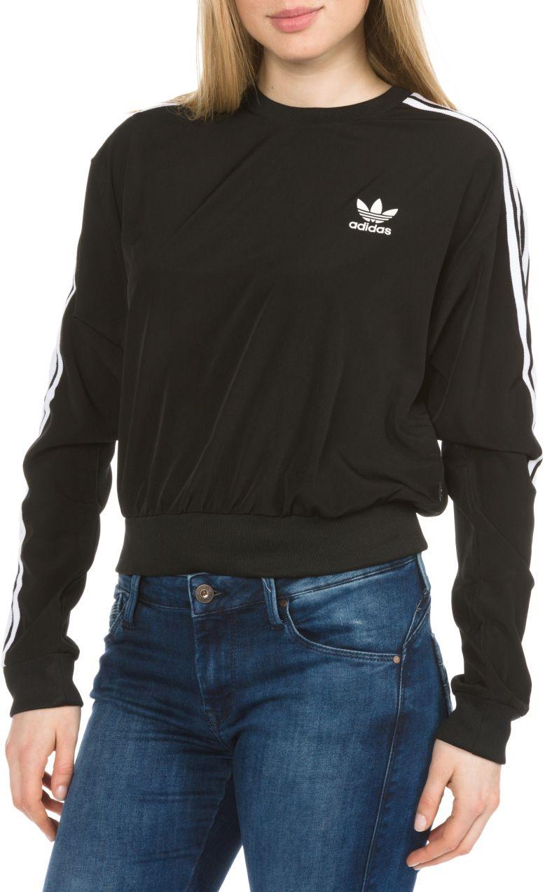 3-Stripes Cropped Mikina adidas Originals  a5e5a3c9ebf