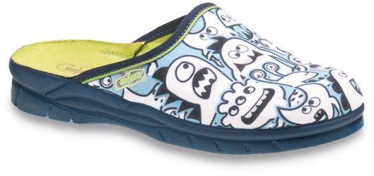 f82c7b22f40d Befado Chlapčenské papuče s příšerkama Fázu - modré značky Befado -  Lovely.sk
