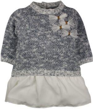 7c9a41729fd5 Dirkje Dievčenské šaty s potlačou a tylovou sukňou - šedé značky ...