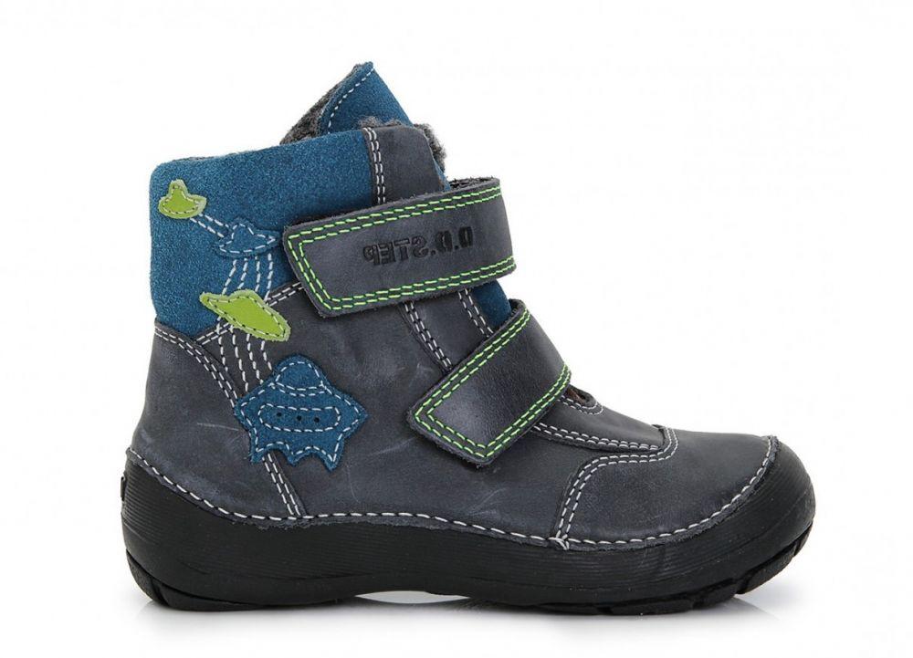 bdb7992ebc89b D.D.step Chlapčenské zateplené topánky s ufonama - čierne značky D.D.step -  Lovely.sk
