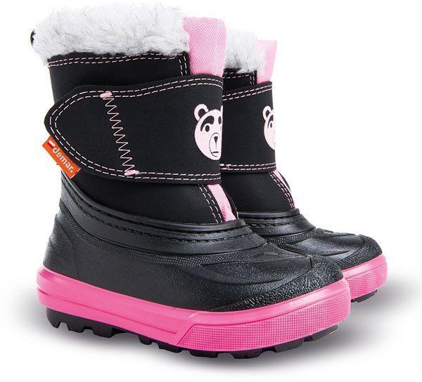 Demar Dievčenské snehule Bear - čierno-ružové značky Demar - Lovely.sk bf5bf29c794