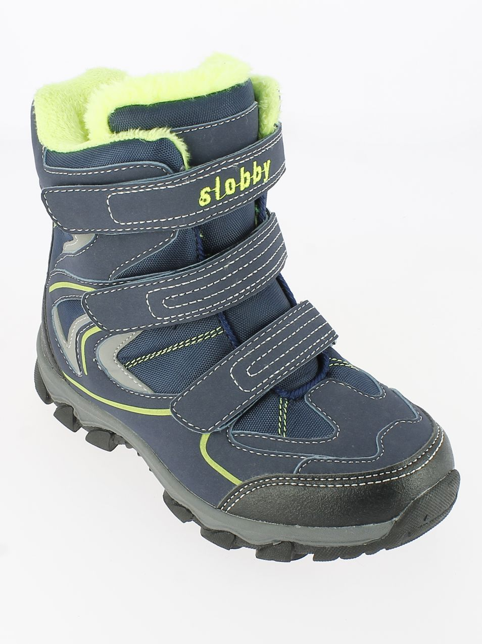 6ba35df4795d9 V+J Chlapčenské zimné topánky - modro-zelené značky V+J - Lovely.sk