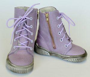 První krůčky Dievčenské kožené celoročné topánky Kos - svetlo ružová ... 00269cdf318