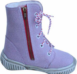 První krůčky Dievčenské zimné topánky so zipsom - fialové 84ef52bc1d4