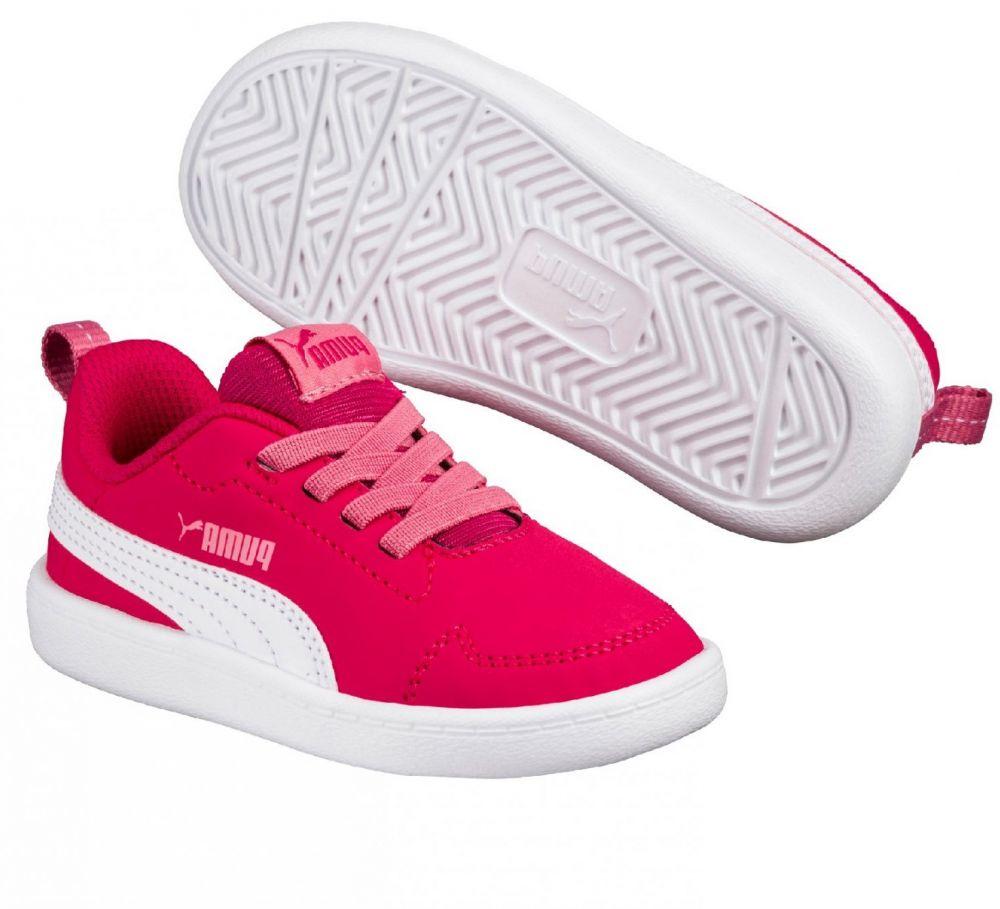9ff7672b0b0 Puma Dievčenské tenisky Courtflex - červené značky Puma - Lovely.sk