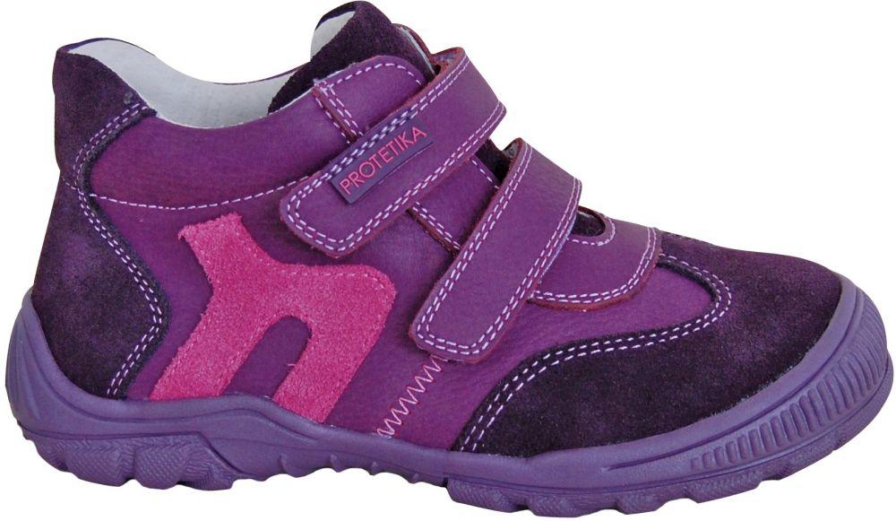 3d5e548d0 Protetika Dievčenské členkové topánky Grisa - fialové značky Protetika -  Lovely.sk