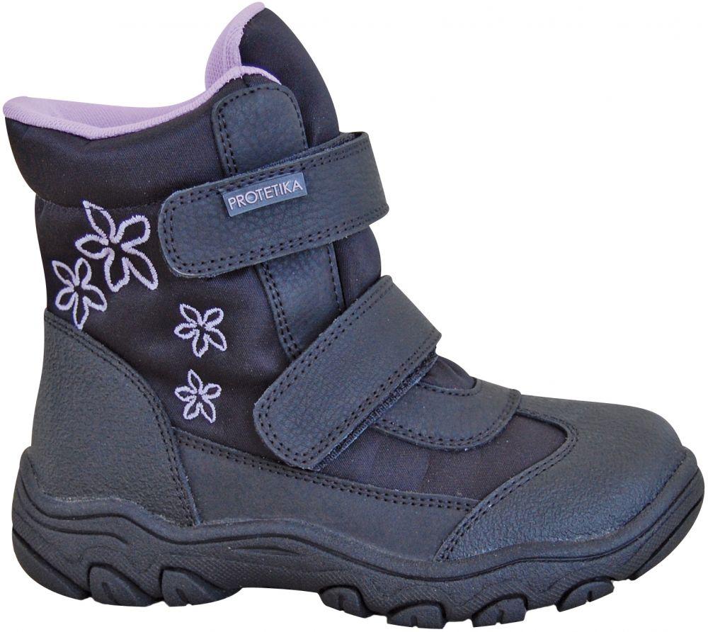 528e3fbec658 Protetika Dievčenské zimné topánky Koba - čierne značky Protetika -  Lovely.sk