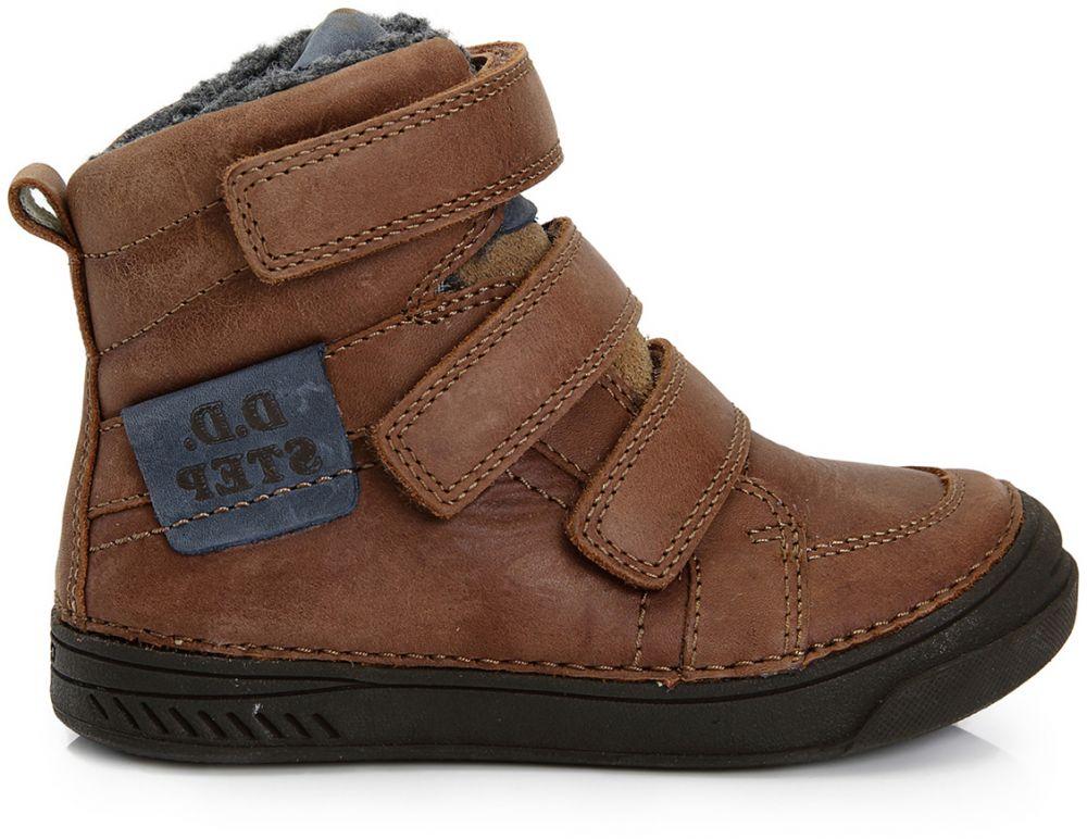 e466e6ae5a40a D.D.step Chlapčenské zateplené topánky - hnedé značky D.D.step - Lovely.sk
