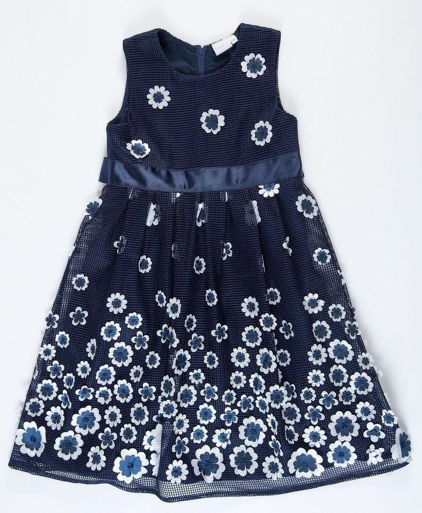 Topo Dievčenské šaty s kvetmi - modré značky Topo - Lovely.sk ea99b370adc