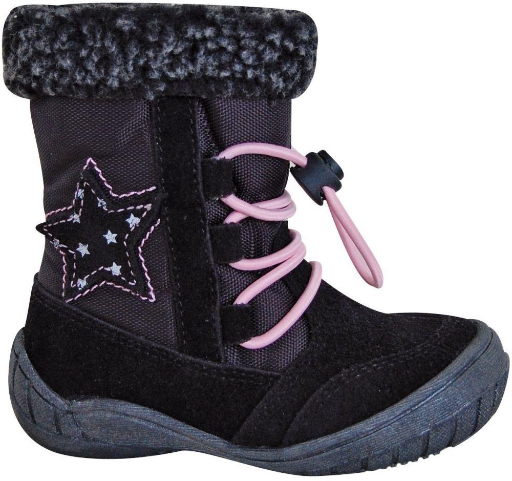 Protetika Dievčenské zimné topánky SIERA - čierne značky Protetika -  Lovely.sk 67ab5288435