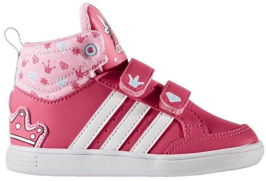 adidas Dievčenské členkové tenisky HOOPS - ružové značky Adidas - Lovely.sk 47002a2de4e