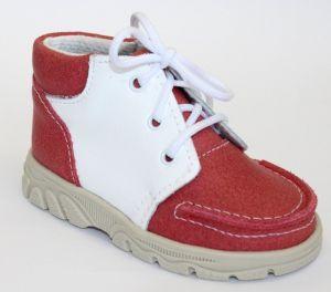 První krůčky Detské kožené topánočky s červeným priehlavkom - ružové ... 4d105ee97a1